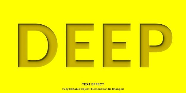 Żółty wewnątrz efektu 3d tekstu