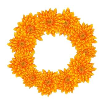 Żółty wieniec chryzantemy