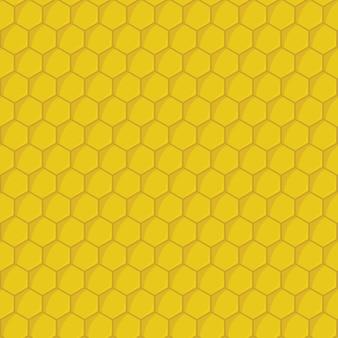 Żółty wzór plastra miodu bez szwu