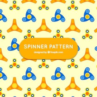 Żółty wzór z spinners