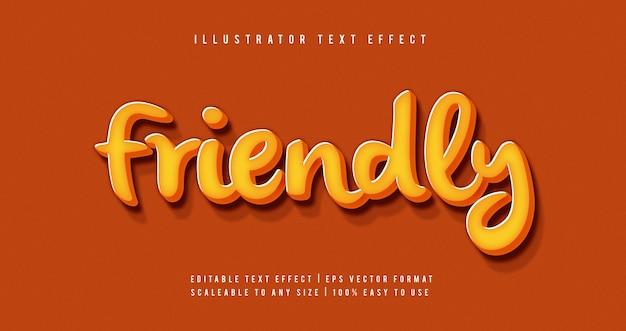 Żółty zabawny efekt czcionki stylu tekstu 3d