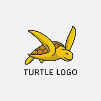 Żółw logo projekt ilustracji wektorowych