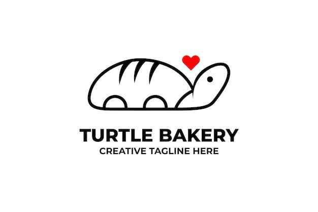 Żółw piekarnia chleb biznes logo