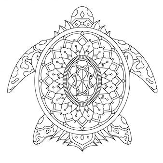 Żółw w stylu liniowym