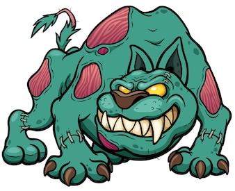 Zombie Cartoon Dog