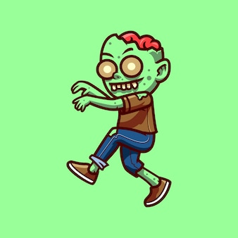 Zombie halloween postać