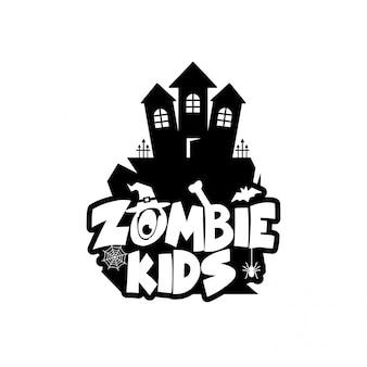 Zombie party typografia wektor wzór