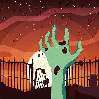 Zombie strony szczęśliwy halloween uroczystości