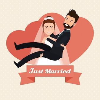 Żona podnoszenia housband żonaty znaków