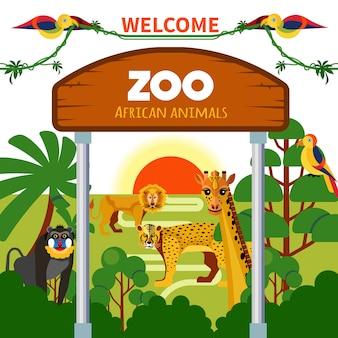 Zoo afrykańskie zwierzęta