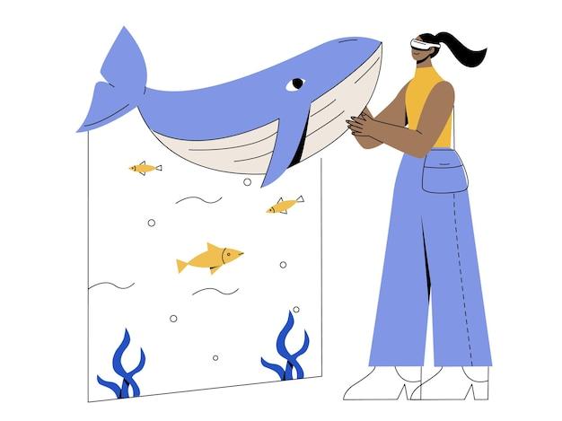 Zoo z płaską ilustracją vr