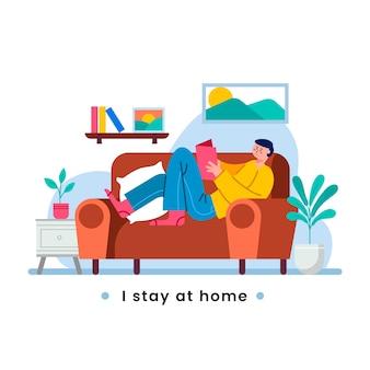 Zostaję w kwarantannie w domu i czytam książkę