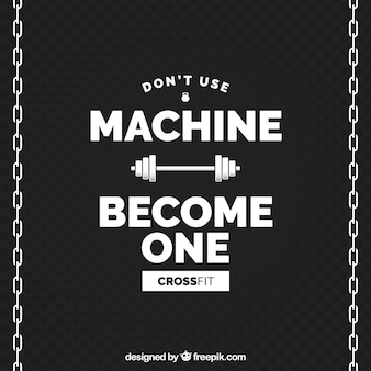 Zostań komputerem w tle crossfit