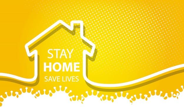 Zostań w domu bezpieczne życie w tle