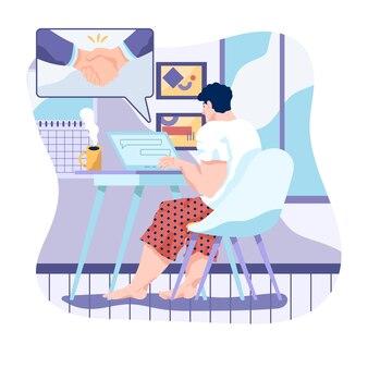 Zostań w domu dzięki telepracownikom pracującym w charakterze