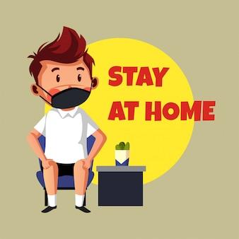 Zostań w domu ilustracji