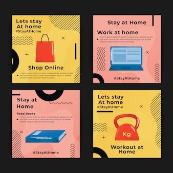 Zostań w domu, kolekcja postów na instagramie