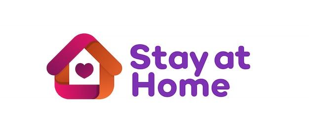 Zostań w domu znak