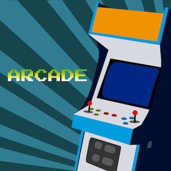 Zręcznościowa gra wideo w stylu vintage