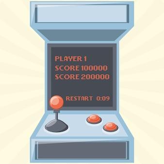 Zręcznościowa ikona maszyny do gier wideo