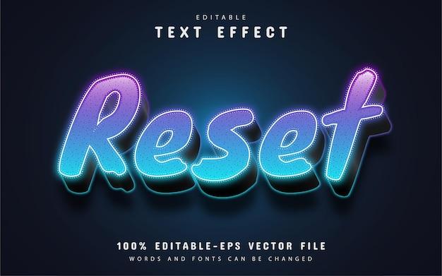 Zresetuj tekst, edytowalny efekt tekstowy 3d