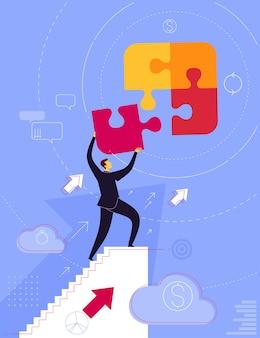 Zrób krok łącząc puzzle