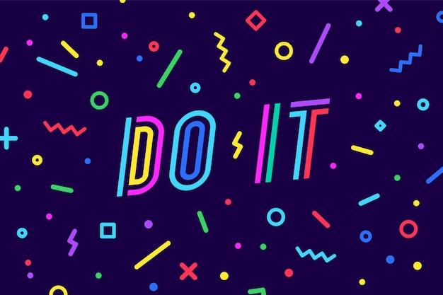 Zrób to. , dymek, plakat i koncepcja naklejki