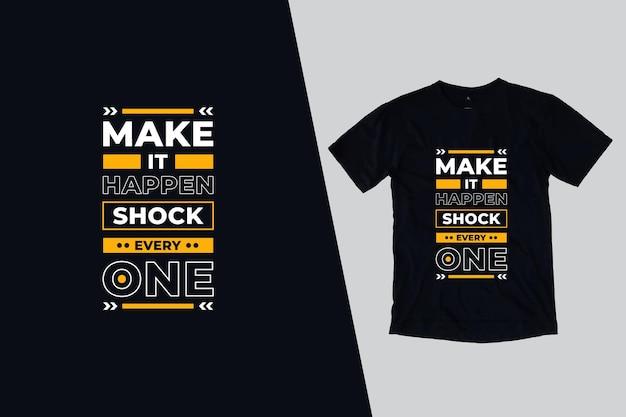 Zrób to, szokuj każdy projekt koszulki