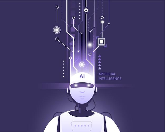 Zrobotyzowana technologia sztucznej inteligencji inteligentne uczenie się na podstawie bigdata