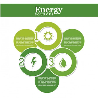 Źródło energii na białym tle ilustracji wektorowych