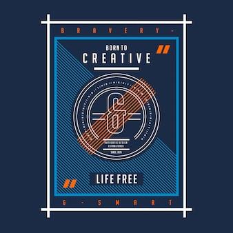 Zrodzony z kreatywnego druku typograficznego z nadrukowaną koszulką