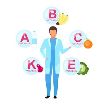 Zrównoważone odżywianie składników płaskie ilustracja