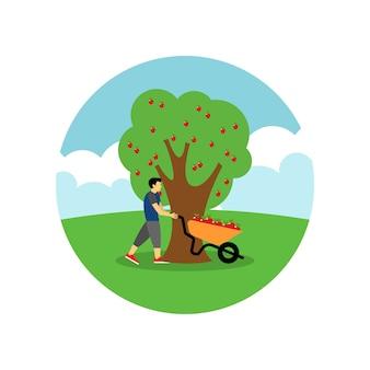 Zrywanie ilustracji jabłko