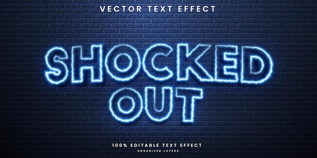 Zszokowany edytowalny efekt tekstowy