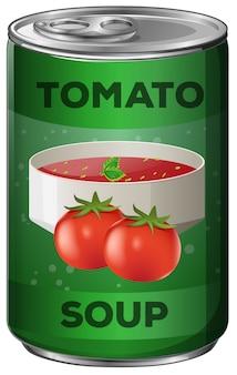 Zupa pomidorowa w aluminiowej puszce