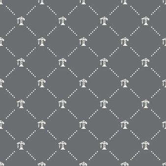Żuraw bez szwu konstrukcji wzór na ciemnym tle. żuraw budowlany ikona kreatywnych projektów. może być używany do tapet, tła strony internetowej, tekstyliów, drukowania ui/ux