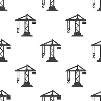 Żuraw budowlany, wektor bezszwowy wzór, edytowalny może być używany do tła stron internetowych, wypełnienia deseniem