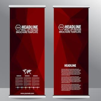 Zwiń baner ulotki broszur biznesowych