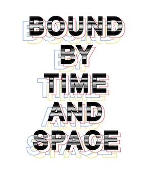 Związana typografia do koszulki z nadrukiem