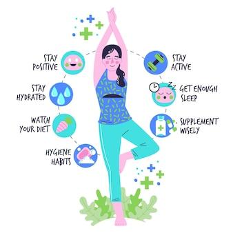 Zwiększ infografiki układu odpornościowego