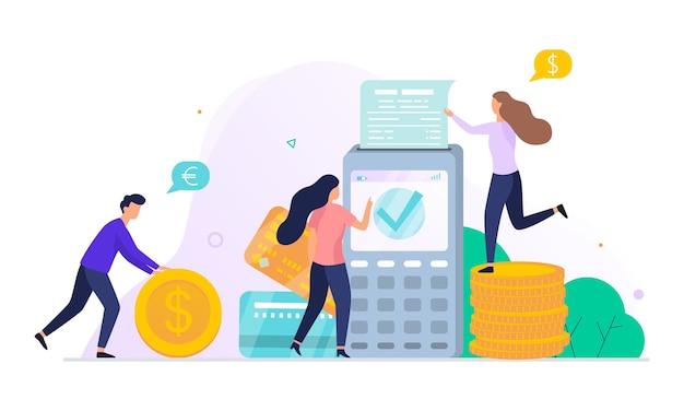 Zwiększ przychody z koncepcji banerów internetowych. idea wzrostu kapitału i finansowania inwestycji. zysk biznesowy. ilustracja