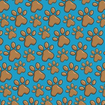 Zwierzę domowe łapy deseniują tło