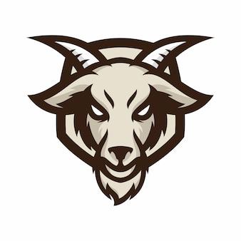 Zwierzę głowa - koza - wektor logo / ikona ilustracja maskotka