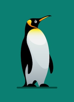 Zwierzę zimowe pingwina