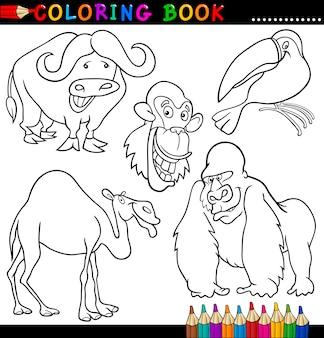 Zwierzęta dla kolorowanka lub strony