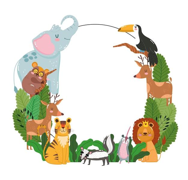 Zwierzęta dzikiej przyrody transparent tło