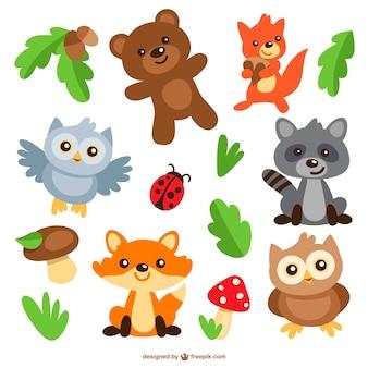 Zwierzęta kreskówki spakować