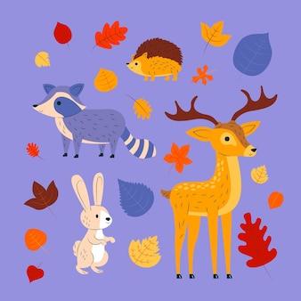 Zwierzęta leśne jesienią