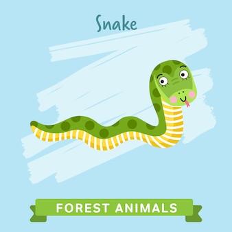Zwierzęta leśne węża.