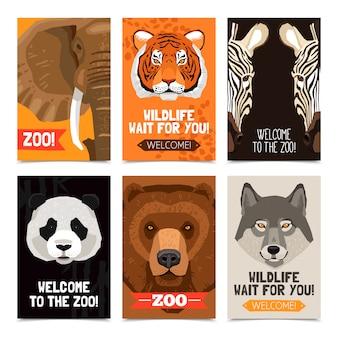 Zwierzęta mini plakaty ustaw